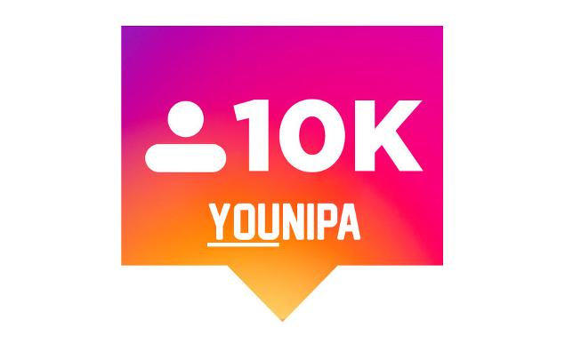 Younipa ha diecimila follower su Instagram