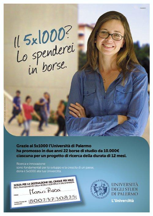 La nuova campagna per il 5x1000 a Unipa in anteprima