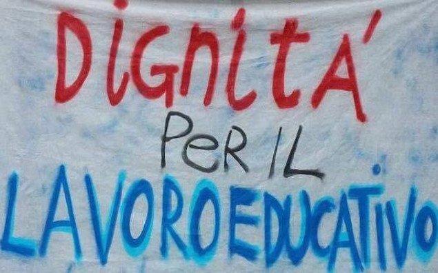 """Manifestazione """"Dignità per il lavoro educativo"""""""