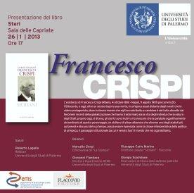 """Invito alla presentazione del libro """"Francesco Crispi"""""""