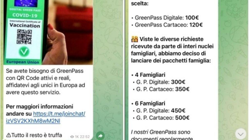 Green pass falsi