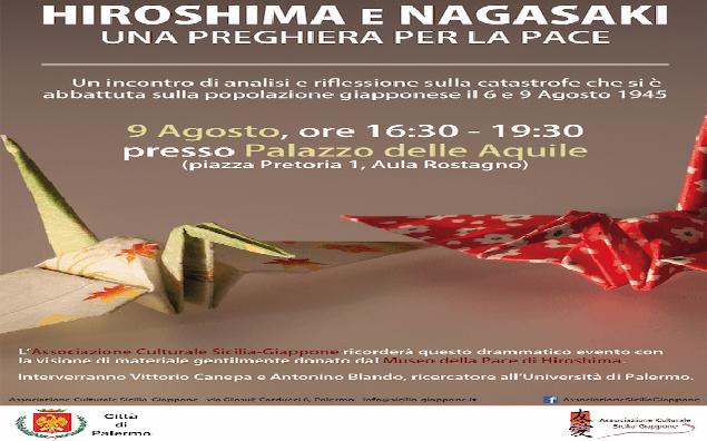 """Hiroshima e Nagasaki"" a Palazzo delle Aquile"