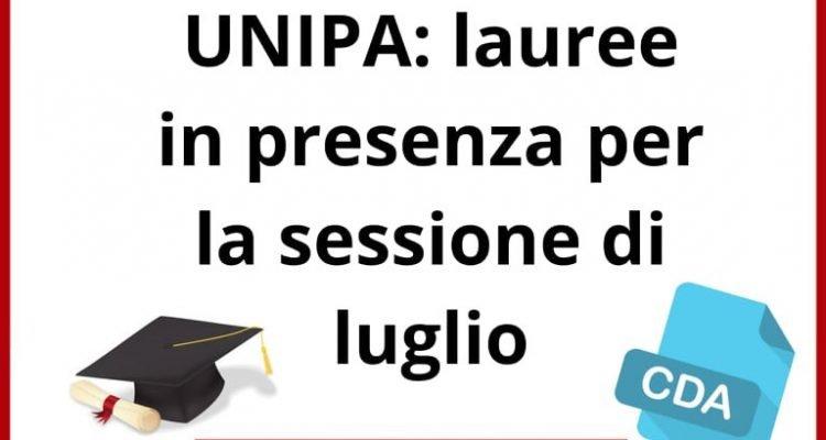 Calendario Lauree Unipa Luglio 2021 UNIPA: Le lauree di luglio saranno in presenza   Younipa