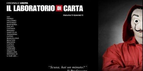 """Per promuovere il laboratorio di urbanistica il prof. Carta cita """"La casa di Carta"""""""