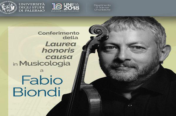Laurea honoris causa a Fabio Biondi