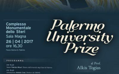 Palermo University Prize ad Alkis Togias
