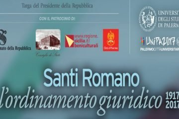 """Convegno """"Santi Romano: l'ordinamento giuridico (1917-2017)"""""""