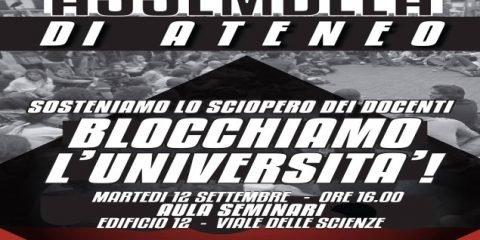 Martedì 12 settembre l'assemblea a sostegno dello sciopero dei docenti a Lettere