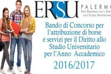 Pubblicato il bando Ersu per l'anno accademico 2016/2017