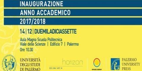 Il 14 dicembre l'inaugurazione dell'anno accademico 2017/2018 di Unipa