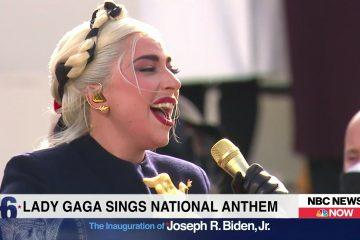 lady gaga canta l'inno americano