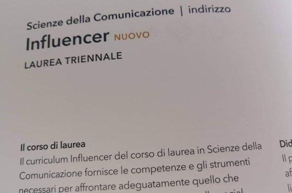 Nasce la laurea per influencer