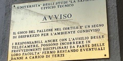 Pallone Roma Sapienza